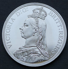 Wales 1887 Pewter Retro Pattern Proof Crown