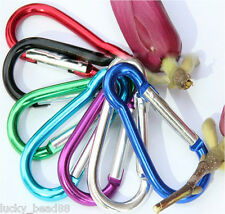 10Pcs Durable Mixed Aluminum Alloy Spring Carabiner Snap Hook Hanger Keychain