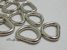d ring d-rings purse ring Webbing Strapping metal nickel 1/2 inch 30pcs AC41