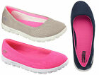 SKECHERS WOMENS ON THE GO RITZ FLAT CASUAL SHOES/SNEAKERS/COMFORT WITH GOGAMAT