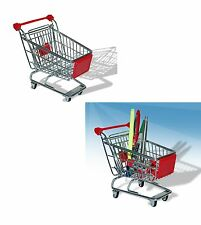 Stainless Steel Mini Wire Shopping Utility Trolley Presentation Basket Office