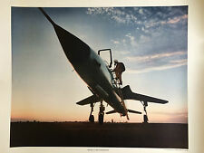 "Republic F-105 and Pilot 24"" x 20"" Print"