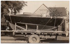 Real Photo Postcard Sail Boat on a Trailer in/near Kent, Washington~105801