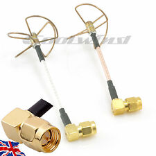 5.8Ghz Skew Planar Cloverleaf FPV Antenna SMA Right Angle ImmersionRC FatShark