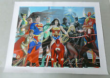Alex Ross Where Justice Resides Giclee on Canvas Signed Edition #74/100 COA