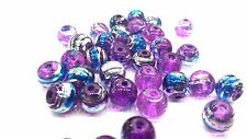 50 pieces 8mm Drawbench Glass Beads  - Dark Purple - A3566