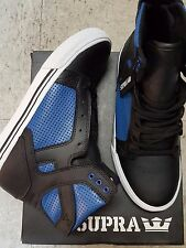 SUPRA SKYTOP BLACK ROYAL WHITE KIDS SHOES SIZE 5 NEW IN BOX