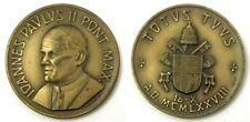 Medaglia Ioannes Paulus II Pont. Max. Totus Tuus A.D. 1978 Bronzo