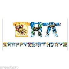 SKYLANDERS BIRTHDAY PARTY supplies (BIRTHDAY JOINTED BANNER)  **FREE SHIPPING**
