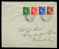 British Exp Force Palestine 1936 cover full set KEVIII FPO 26 cancel Rare