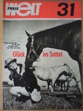 FREIE WELT 31 1968 Glück im Sattel Grusinien Rekord der DDR-Staffel Vietnam