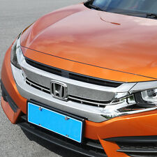 Chrome Front  Grille Grill Moulding Cover Trims for 2016-2017 Honda Civic