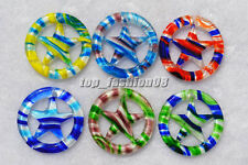 FREE Wholesale 18ps Round star Lampwork Glass Pendants DIY Necklace