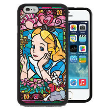 Disney Alice in Wonderland Stained Glass TPU+PC Case for Iphone 7