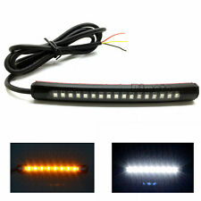 Flexible 17LED Strip Amber White Light Turn Signal Indicator 2835 SMD Motorcycle