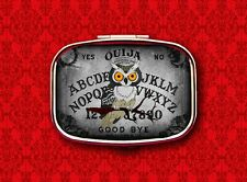 OUIJA BOARD OWL PSYCHIC GAME VINTAGE HALLOWEEN STASH BOX METAL PILL MINT CASE