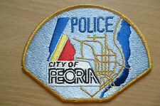 Patches: CITY OF PEORIA POLICE PATCH (NEW* apx.12x9 cm)