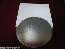 "15"" inch ROUND CAKE BOARD / DRUM and BOX Silver NEXT DAY DESPATCH"