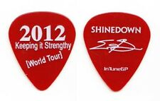 Shinedown Eric Bass Signature Red Keeping It Strengthy Guitar Pick - 2012 Tour