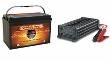 SLR125 VMAX AGM SLA Deep Cycle 12V 125AH Solar Battery+ 15A 7Stage Smart Charger