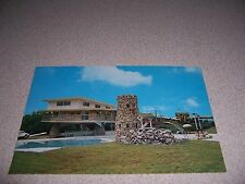 1970s AIRPLANE at STONE CASTLE MOTEL BLOOMSBURG PA. VTG POSTCARD