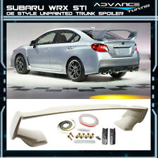 Fit For 15-16 Subaru WRX STI OE Style ABS Unpainted Rear Trunk Spoiler
