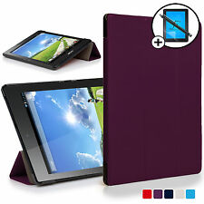 Purple Smart Case Cover Shell for Acer Iconia One 7 B1-780 Screen Prot Stylus
