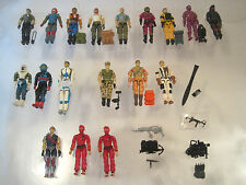 "VTG 33 pc LOT GI JOE~3 3/4"" USA 1980's~ACTION 18- (V1 )FIGURES 15-ACCESSORIES"