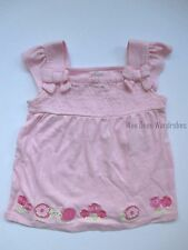 Gymboree Fairy Garden Pink Snail Flower Smocked Shirt Top Girls 3T NEW NWT