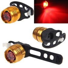 Aluminum Bike Bicycle Red LED Light Front and Rear Back Waterproof Tail Lamp