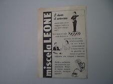 advertising Pubblicità 1949 MISCELA LEONE PER CAFFE'