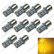 10X Yellow 13 SMD 5050 LED BAU15s 150° 1056 7507 PY21W Turn/Brake/Reverse Light