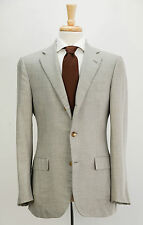 $2595 LANVIN Light Gray Cashmere & Silk Dual Vent Blazer Jacket 38 R Slim Fit