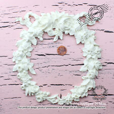 "Shabby Chic Furniture Appliques ""Large Shabby Rose Wreath"""