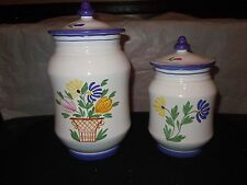 Strata Group For Shafford Avignon Hand Painted Made in Italy Coffee & Sugar Jars