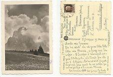 100228 ANTICA CARTOLINA SCRITTA DA SOLDATO BOLZANO ARTIGLIERE 1943 SASSOLUNGO