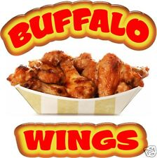 """Buffalo Wings Chicken Concession Restaurant Food Truck Menu Sign 14"""" Decal"""
