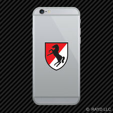 US Army 11th Armored Cavalry Regiment Patch Cell Phone Sticker Diecut Decal
