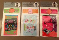 NEW BIRTHDAY CELEBRATE CUSTOMIZE WINE BOTTLE GREETING GIFT LABEL WRAP DECAL 3pk