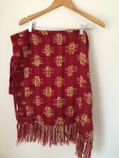 Red/gold Textured Scarf 60cm X 180cm  T4306