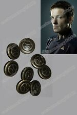 Battlestar Galactica set of 8 Buttons Pips Pin Badge Replica Cosplay Outfit Prop