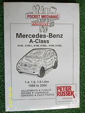 MERCEDES BENZ A-CLASS PETROL A140 A60 A190 +L + VANEO WORKSHOP MANUAL 1998-2004