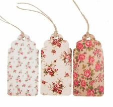 *Sass Belle 15 Retro Vintage Large Floral Rose Message Luggage Label Gift Tags*