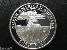 North American Hunting Club Pronghorn Antelope Silver Art Medal A1570