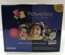 Brand New Epson PictureMate Deluxe Viewer Edition Compact Photo Printer
