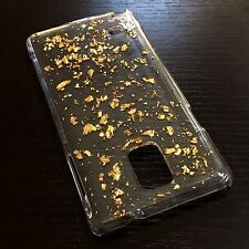 For Samsung Galaxy Note 4 - HARD BACK PROTECTOR GOLD CLEAR SHINY FOIL CASE COVER