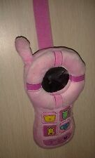 Plush cell phone shaped toy pink