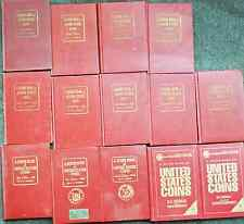 Lot of 14 Old Coin Red Books Hardback 7th to 56th Edition