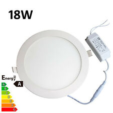 Empotradas Led Panel De Techo Downlight Ultraslim 18w Ronda Día Cool Blanco Natural