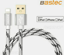 BASTEC Nylon Lightning to USB Charge Date Cable - iPhone 7 6S 6 5S 5C 5 iPad 1M